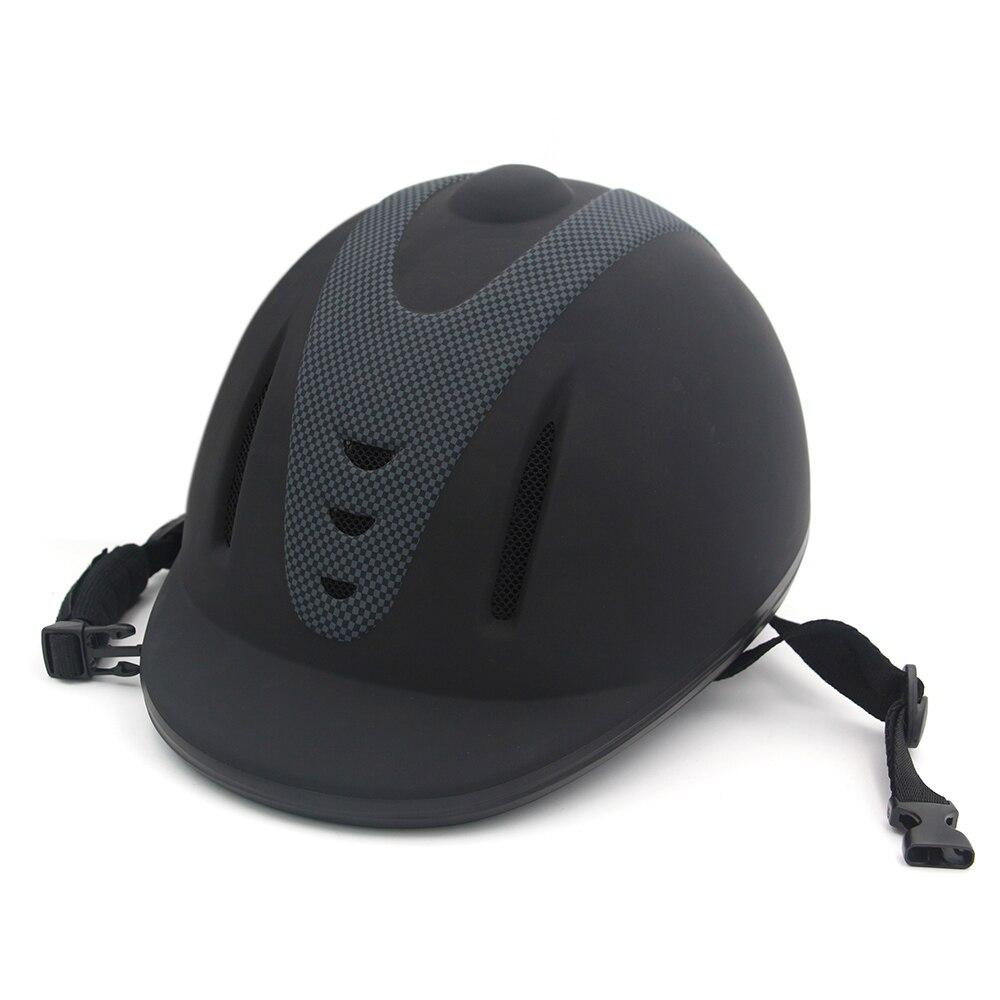 Casque d'équitation professionnel taille M réglable demi-visage couvre-chef de protection équipement sécurisé pour les cavaliers de questrie