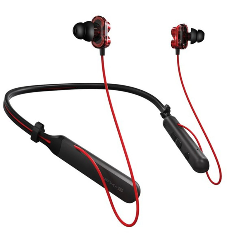 Plextone Bx345 Bluetooth 4.1 Earphone Stereo Wireless Headphones Dual Dynamic Sports Headset Waterproof Earbuds Microphone