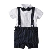 VTOM Summer Baby Boys Sets Baby Short Sleeve Tops+Suspenders Shorts Pants 2PCS Sets Formal Sets Baby Infant Clothes XN80 free shipping 2017 summer female baby girls shorts sets infant fly sleeve vest 2pcs suit lollipop