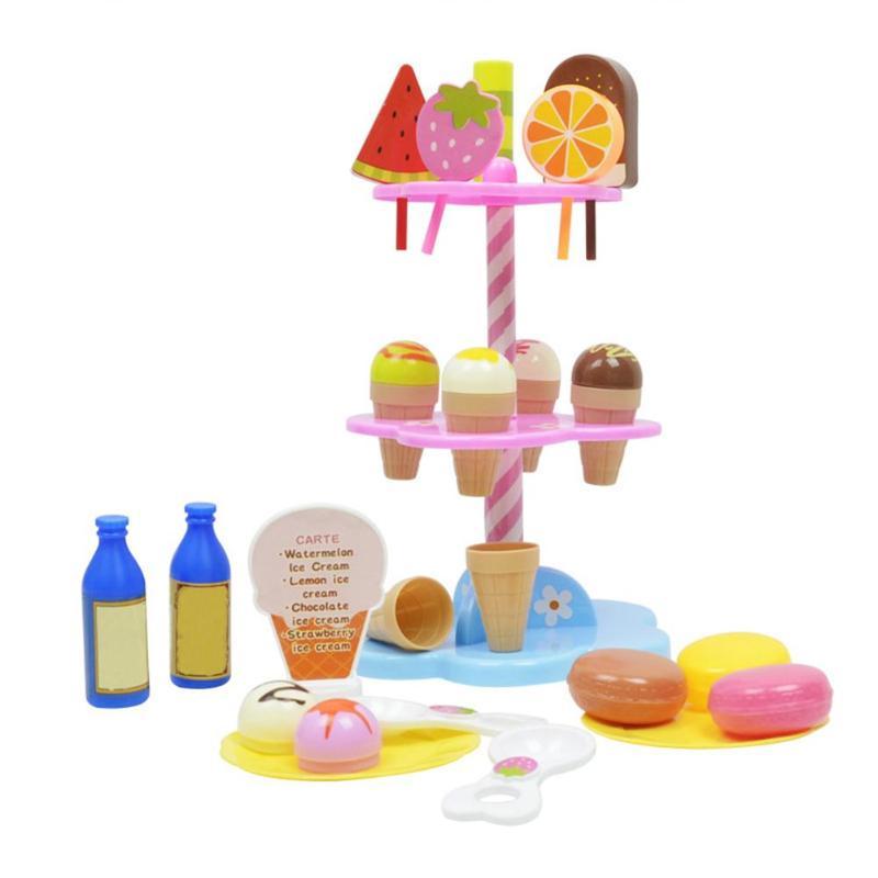 2019 Mode Ijs Plank Speelgoed Simulatie Kleine Karren Meisje Mini Candy Winkelwagen Ijs Winkel Supermarkt Kinderen Speelgoed Spelen Home Baby Speelgoed