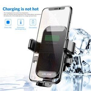 Image 5 - Support de voiture USLION Qi chargeur sans fil pour iPhone XS Max X XR 8 support de téléphone de voiture de charge sans fil rapide pour Samsung Note 9 S9 S8