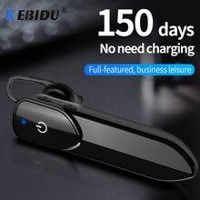Kebidu fone de ouvido bluetooth mãos livres, mini fone de ouvido sem fio com microfone para iphone e xiaomi