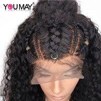 Предварительно сорвал полный кружево человеческие волосы Искусственные парики отбеленные узлы с ребенком волос 180% и 150% плотность бразильс
