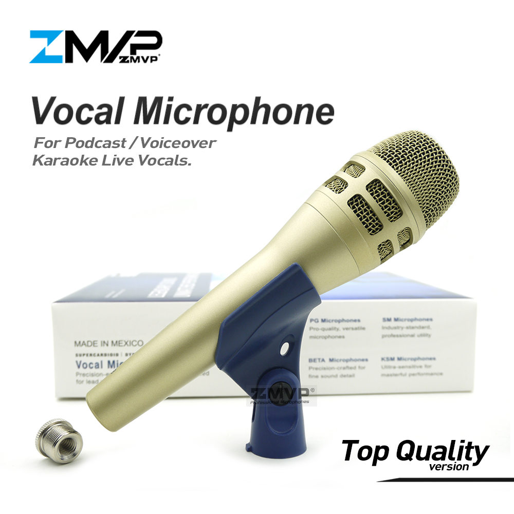 Top Quality Version KSM8 Professional Live Vocals KSM Dynamic Wired Microphone Karaoke Super-Cardioid Podcast Microfono Mike Mic