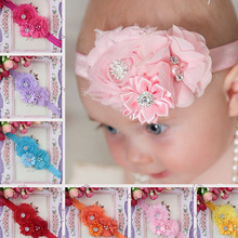 Chiffon Flower Baby Headband Girl Headbands Kids Girls Hair Band Hairband Accessories Headwear Newborn Head Band все цены