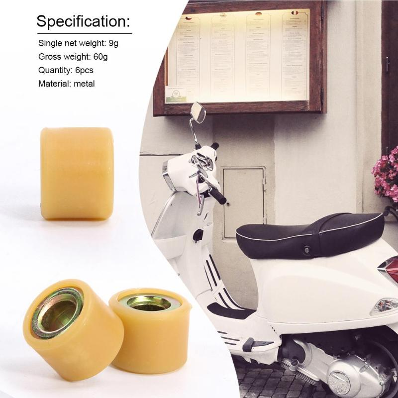 VODOOL 6pcs Metal Transmission Drivetrain Part Variator Roller for GY6 125CC 150CC Engine Scooter Sunny Keeway Scooter ATV Parts