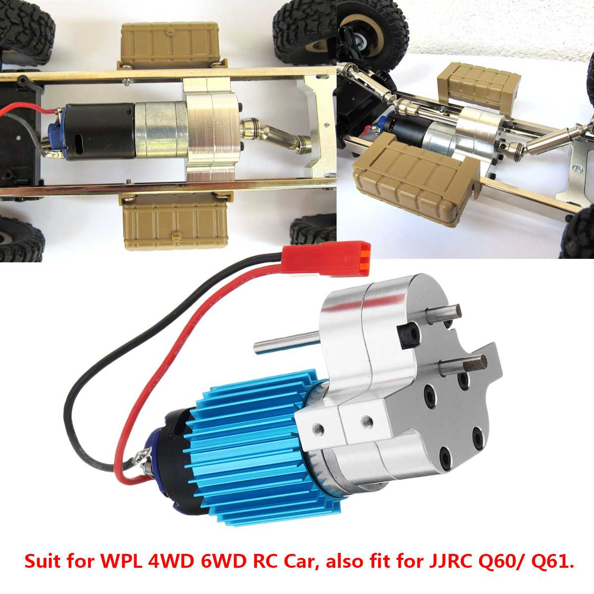 Para WPL C14 C24 4WD 6WD RC coche para JJRC Q60/Q61 reemplazar velocidad caja de engranajes de actualización de repuesto partes de Control remoto partes de Metal