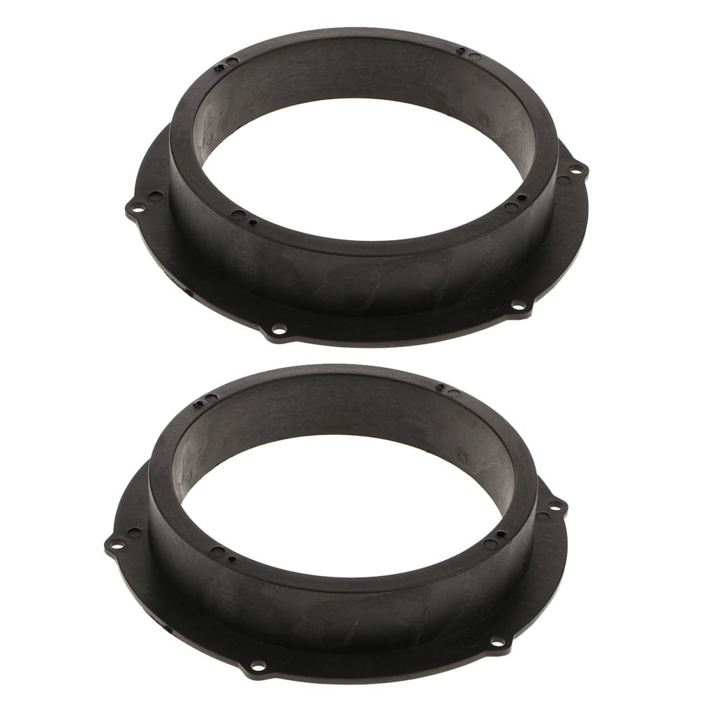Adaptador de anéis para montagem de alto-falante, 2 peças, preto, 6.5 polegadas, para vw magotan skoda