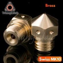 1 шт. супер высокое качество Micro Swiss MK10 сопло для Swiss Hotend Kit mk10 Латунное сопло M7 3D принтер латунь MK10 сопло