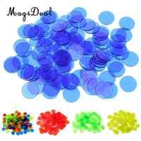 100 Pcs/Lot puce de Bingo translucide 3/4 pouces classe jeux de mathématiques jouets jouets éducatifs pour enfants fournitures de classe jouets de mathématiques