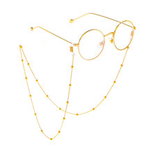 Neck Strap Eyeglass Fashion Reading Glasses Chain for Women& Man Gold/Silver/Rose gold Beads Sunglasses chain