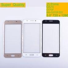 10 sztuk/partia dla Samsung Galaxy J5 Prime G570 G570F zewnętrznym szklanym wieczkiem/przednia soczewka przedni ekran pokrywa (bez digitizer) ekran dotykowy