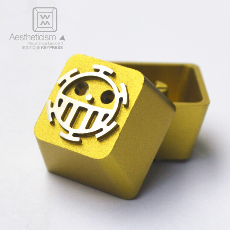 1pc Metal Translucent Anode Aluminium Alloy Keycap MX Switch R4 ESC Mechanical Keyboard Keycaps For ONE PIECE h1z1 battle royale game keycap r4 height alloy full metal keyboard keycaps for cherry mx switches teclado mecanico keycaps