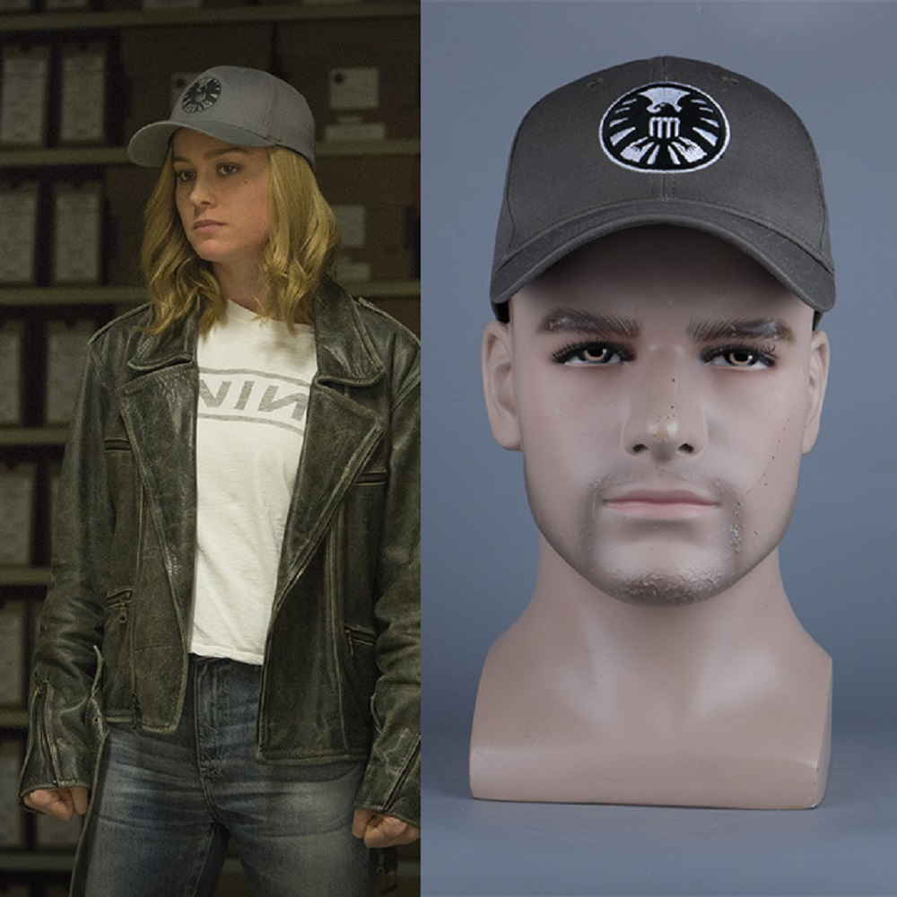 New Captain Marvel Carol Danvers Caps Unisex Adjustable Hip Hop Sun Hat Snapback Agents of S.H.I.E.L.D. Shield Baseball Caps