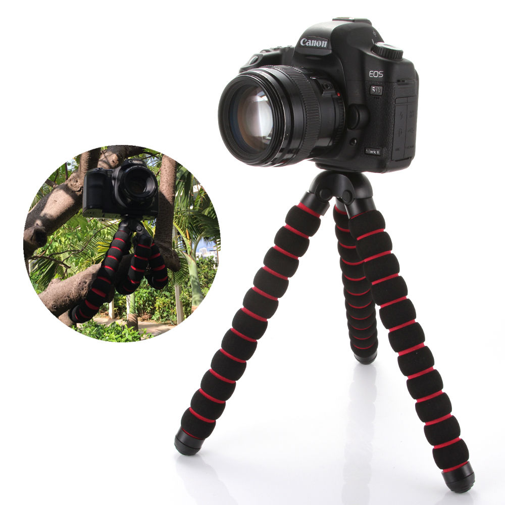 Large Octopus Spider Flexible Portable Camera Tripod Stand For A7 GH5 600D PHONE DSLR Camera Stand 1/4
