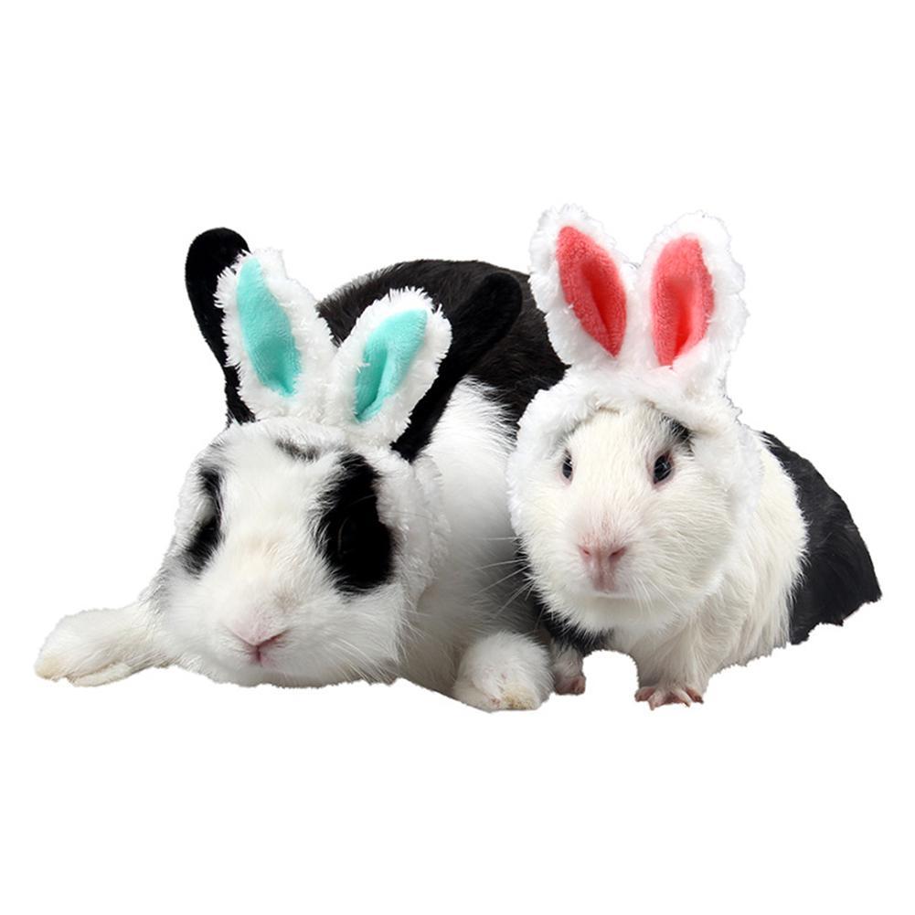 Adeeing Pets Cat Guinea Pig Hats Keep Warm Accessories Lovely Ears Rabbit Ear Headgear