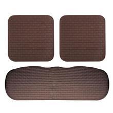 цена на 3Pcs Soft Fabrics Car Seat Cushion without Backrest Auto Car Seat Cover Ties Non-Slip Car Mat Car Seat Accessories (Coffee)