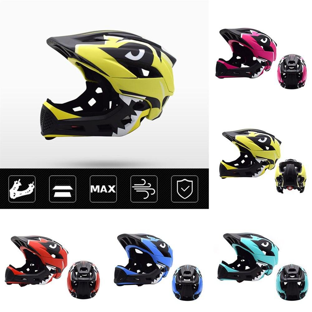 Casque de vélo intégral pour enfants, protège-menton amovible, casque de cyclisme sur route de montagne pour Sports de plein air, Skateboard, patinage à roulettes