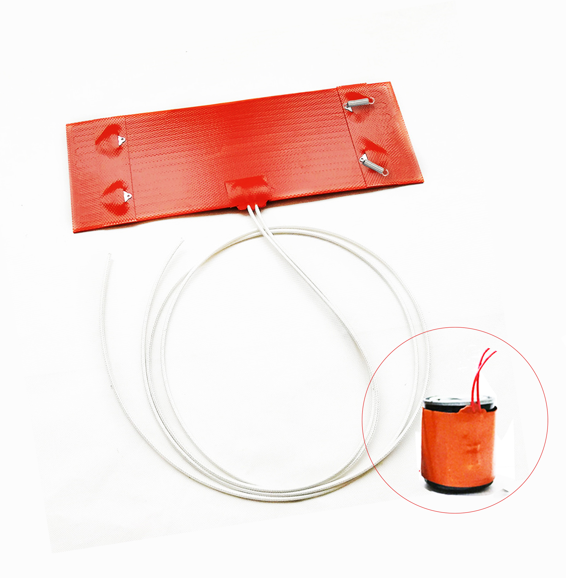 12V 250x90mm Silicagel Electric Heating Ring Heater Mat for Diesel Car Filter For Air Parking