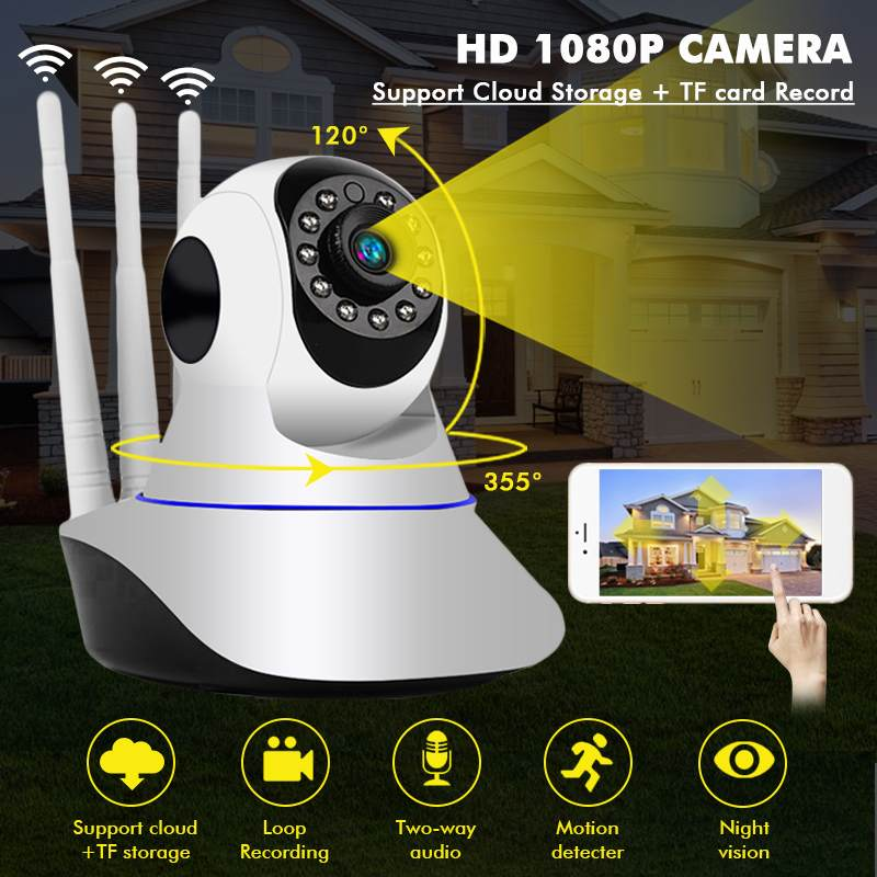 Wireless Surveillance Camera HD 1080P WiFi Security IP Camera  Home Support 64 TF Card Night Vision CCTV Camera Baby Monitor
