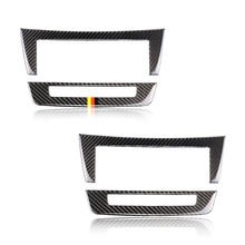 For Mercedes Benz C Class W204 2010 2011 2012 2013 Carbon Fiber Car Center Console Air Condition Panel Frame Cover