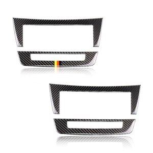 Image 1 - For Mercedes Benz C Class W204 2010 2011 2012 2013 Carbon Fiber Car Center Console Air Condition Panel Frame Cover