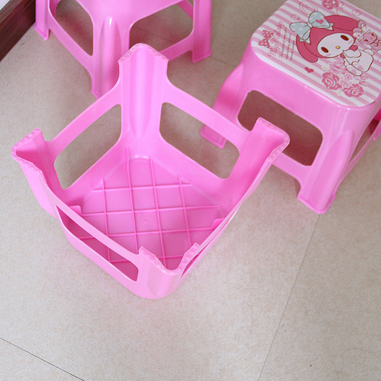 Image 4 - Plastic Small Stool Kindergarten Cartoon The Bench Household Adult Originality Living Room Shoes Kids Chair Furniture Dinette-in Children Chairs from Furniture