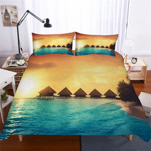 Bedding Set 3D Printed Duvet Cover Bed Set Sea Wave Home Textiles for Adults Lifelike Bedclothes with Pillowcase #HL08