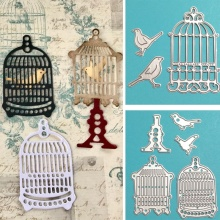 Birdcage Set Metal Cutting Dies Scrapbooking bird DIY Album Paper Card Decorative
