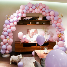 5inch Macaron Balloon 50 sets(100pcs)/lot Double Layer balloon Romantic Wedding Room Supplies Birthday Party  Chain