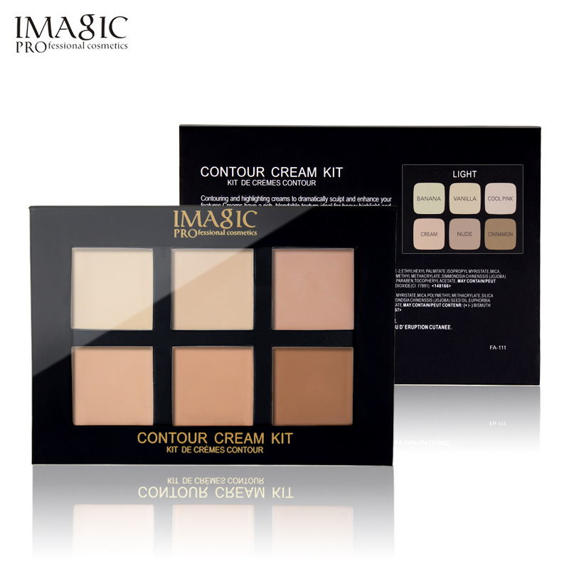 IMAGIC brand Concealer Cream Contour Palette Kit Pro Makeup Palatte 6 Colors Concealer Foundation cream Face Primer for all skin image