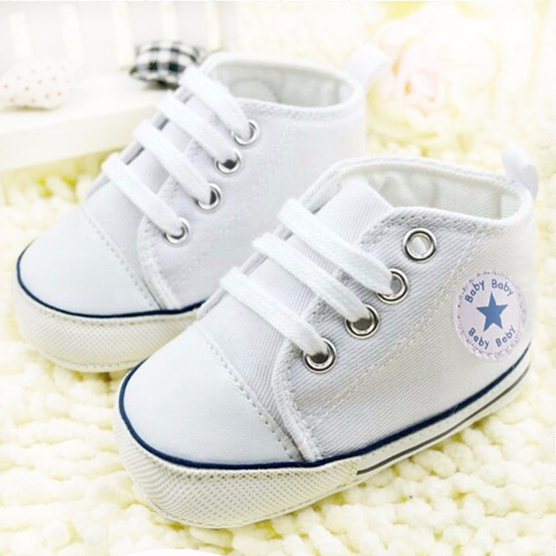 Toddler Shoes First-Walker Canvas Newborn Girls Infant Anti-Slip Soft-Sole Boys Lace-Up