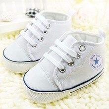 Fran Baru 0-18month Sepatu Bayi Anak Laki-laki Gadis Bayi Sol Lembut Pertama  Walker Kanvas Sepatu Pola Anti Slip Balita Sepatu c44b73aefb