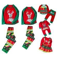 53698c456d Merry Cristmas Family Clothes Set Christmas Pajamas Set Elk Print Nightwear  Adult Kids Girls Boy Mommy Baby Sleepwear Family