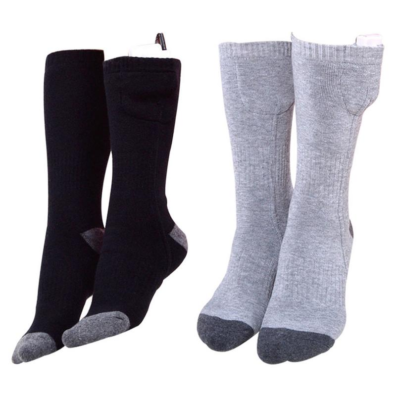Electric Heating Socks Adjustable Temperature Lithium Battery Infrared Heating Unisex Feet Warmer Warming Women Socks Stockings