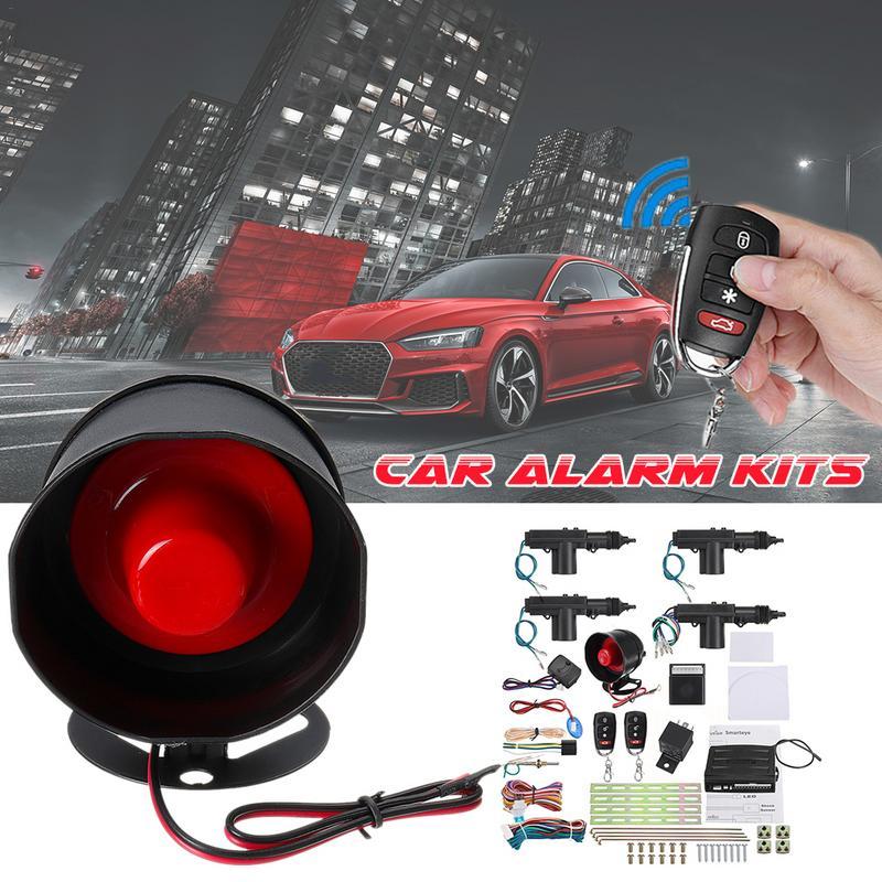 Alarme de voiture à distance sans clé entrée de sécurité + 4 portes actionneur de verrouillage de puissance Kit de moteur électronique de voiture Parking Alarma Auto