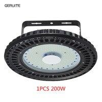 GERUITE 200 Вт НЛО промышленный свет светодиодный зал лампа 16000LM SMD 5730 220 В 110 в 6000 К 6500 к Шахтерская лампа промышленное освещение