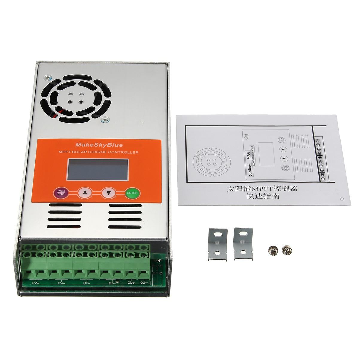 LCD 50A MPPT Solar Charge Controller Regulator for 12V/24V/36V/48VDC System Solar Panel Battery Regulator Controller 50a 12 24v solar regulator charge controller lcd screen solar controller new