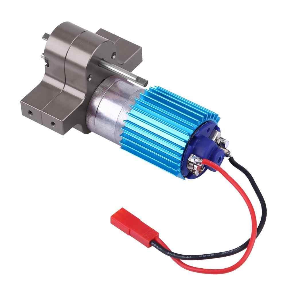 Caja de cambios de velocidad caja de cambios de Metal con Motor de cepillo 370 WPL 1633 RC coche CNC mecanizado de motor de aleación de aluminio RC parte