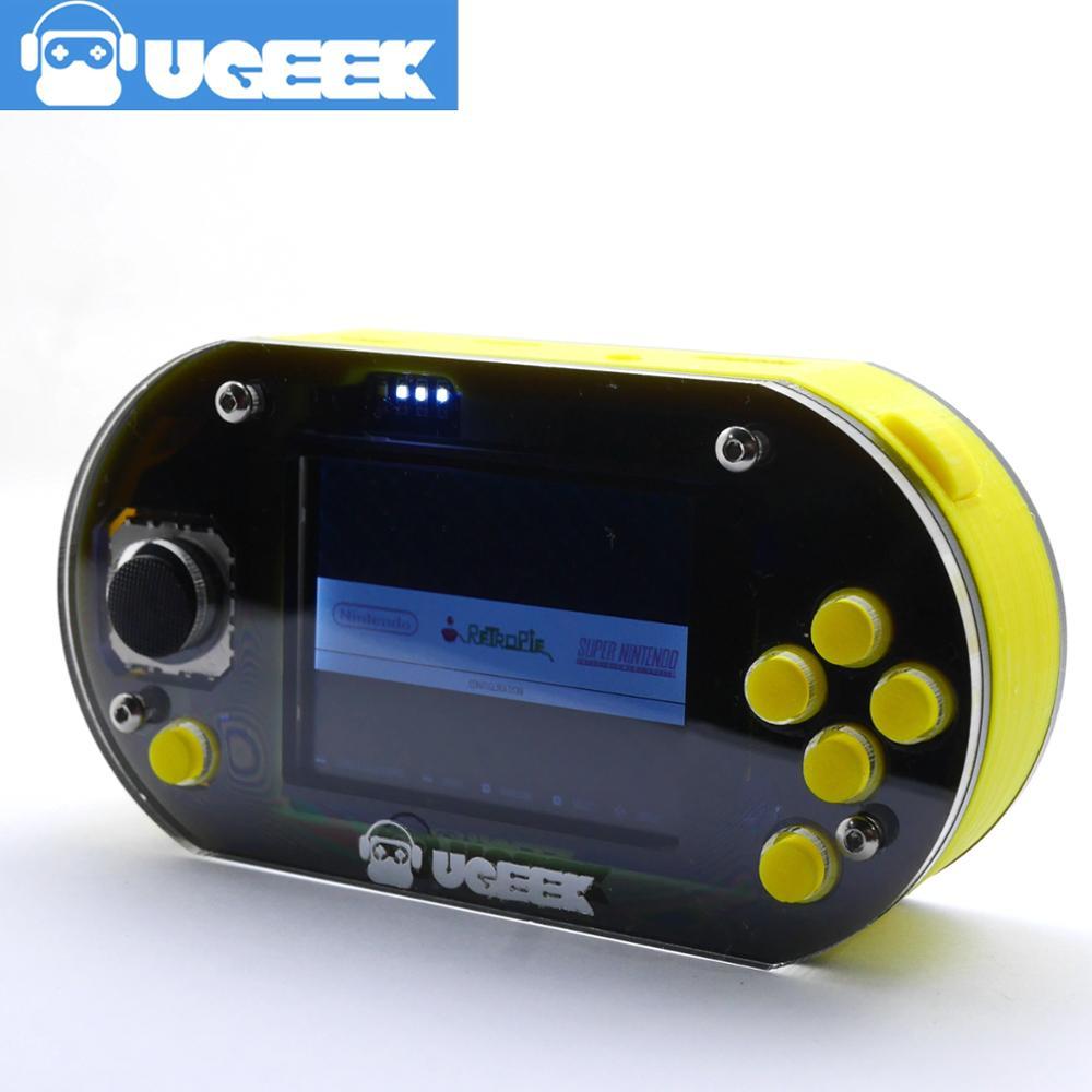 GameDucky   UGEEK Jeu lecteur   Framboise Pi Zéro/w   Portable   Retropie   18650battery   Jeu Console   jeu CHAPEAU   2.2 pouces écran 480*320