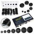 170 stks/doos Rubbertule Gat Plug Set Auto Elektrische Draad Kabel Pakking Kit Zwart Ronde Fastener Grommets Decoratie