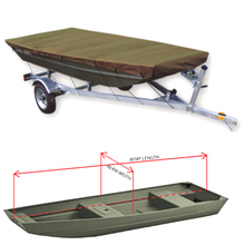 420X135cm Trailerable Boat Storage Cover Waterproof Dust UV Resistant Fishing V-shape Boat Cover Fit 12ft to 14ft Jon Boat Green