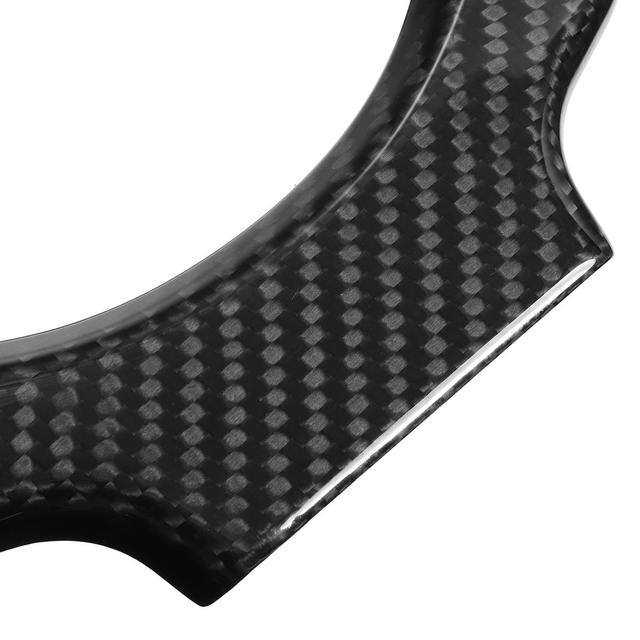 New Real Carbon Fiber Car Steering Wheel Center Trim Cover Steering Wheel Center Protector For NISSAN For GTR GT R R35 2009-2016 5