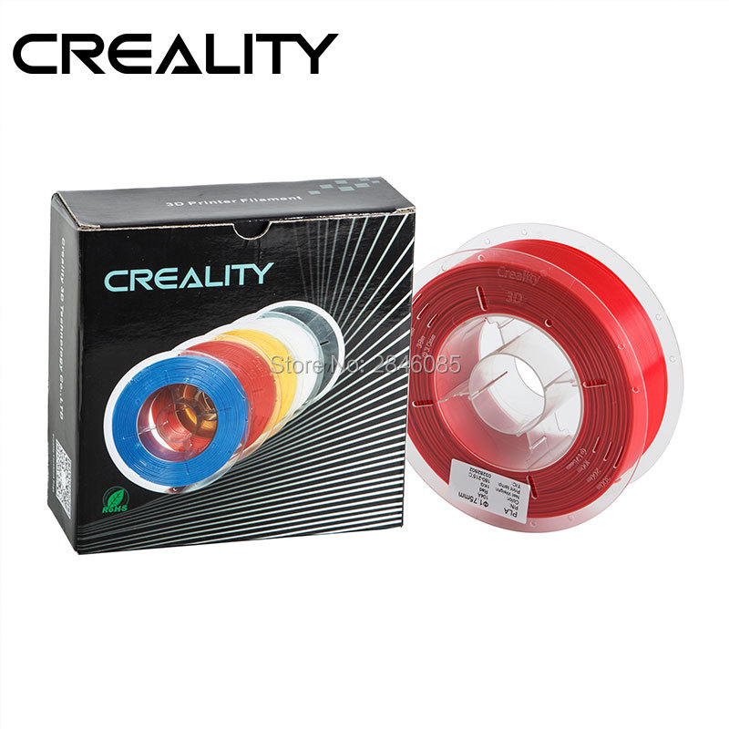Good Quality CREALITY 3D Original PLA White/Red/Blue/Yellow/Black Optional Filament 1.75mm 1kg/Roll Spool For 3D Printer ppyy new 2pcs high quality 3mm white pva dissolvable 3d printer filament 60m 0 5kg 1 1lbs 30 60mm s include spool and leathe