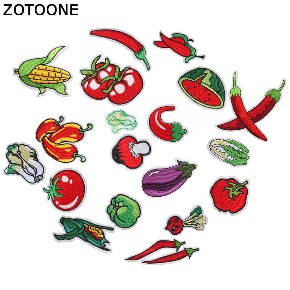 Parches Fruta Verduras termoadhesivos bordados applique para ropa
