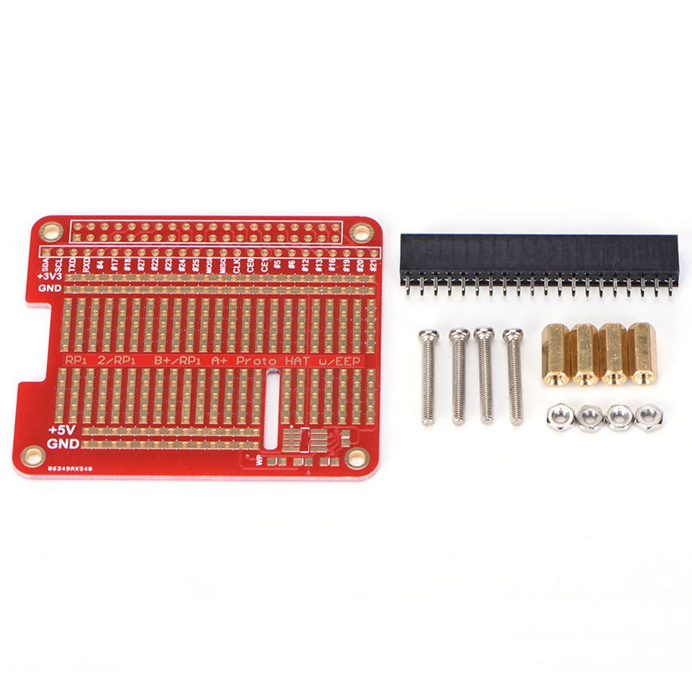 For Raspberry Pi 2 3 Model DIY Proto HAT Shield Exclusive Hole Board Welding Soldering Kit Compatible With B B+ A+ KB