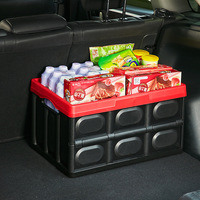 Car Organizer Trunk Storage Box 30L/55L Large Capacity Folding PP Auto Storage Box Stowing Tidying Car Home Accessories