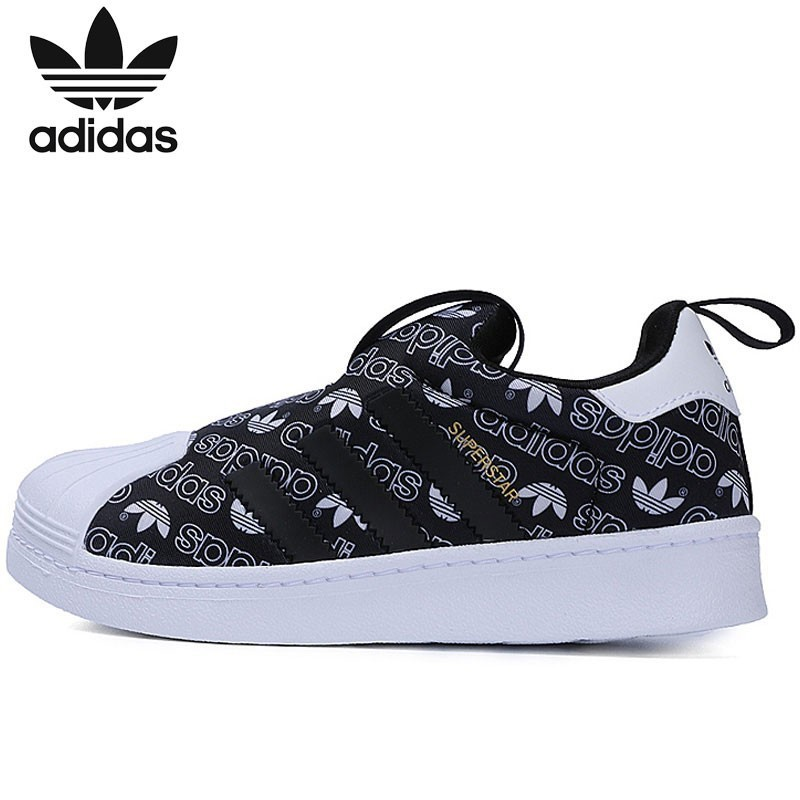 Adidas Official SUPERSTAR 360 Clover kids Classic Shoe breathable outdoors sneakers B75607 B75608 adidas samoa kids casual sneakers