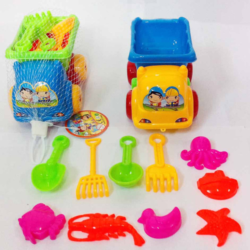 11pcs/sets Of Beach Toys For Water Children Tweezers Bucket Shovel Small Beach Summer Play Toys Children's Dredging Tools Clear