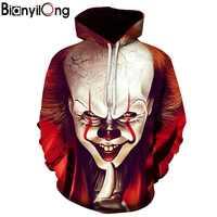 Impression 3D sweat à capuche pour homme et femme vêtements Halloween créatif clown impression 3d veste à capuche zippé à capuche de personnalité